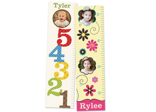 Growth Chart banners with kid photos