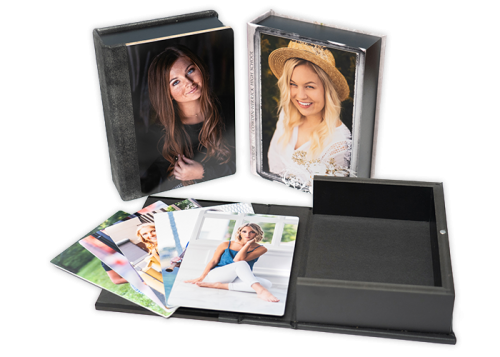 Images boxes with double sided prints