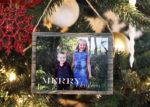 barn wood mini christmas ornament hangin on tree