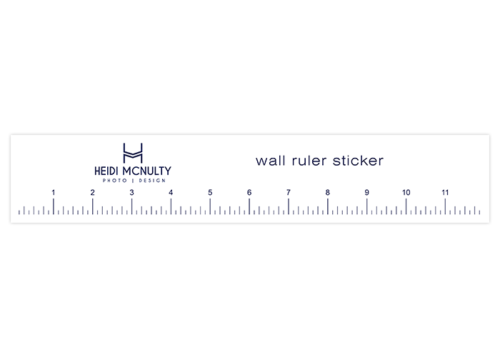 wall ruler sticker with logo