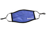 blue face mask with McKenna logo